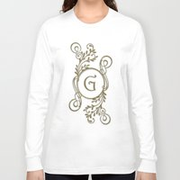 letter Long Sleeve T-shirts featuring Letter G by Britta Glodde