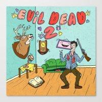 evil dead Canvas Prints featuring ♥ EVIL DEAD 2 ♥ by Josh LaFayette