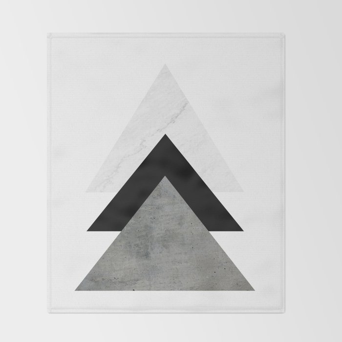 Arrows Monochrome Collage Throw Blanket