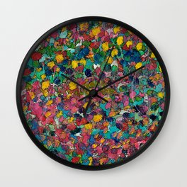 Thru the Paint Patch Wall Clock