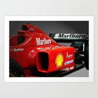 f1 Art Prints featuring Ferrari F1 by cjsphotos