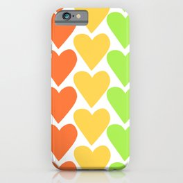 Rainbow Hearts iPhone Case