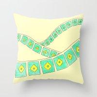 brasil Throw Pillows featuring Brasil by Luana Rios