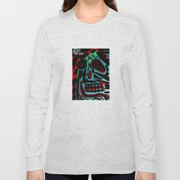 Kal - Abstract expressionism portrait Long Sleeve T-shirt