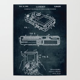 1993 - Compact hand-held video game system (Gameboy) Poster