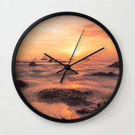 sunset on the beach landscape Wall Clock
