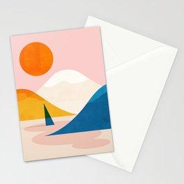 Abstraction_Lake_Sunset_Minimalism_002 Stationery Cards