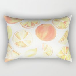 Citrus Watercolor Rectangular Pillow