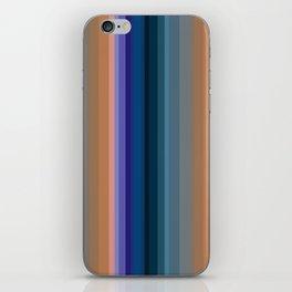 Multi-colored striped pattern 2 iPhone Skin