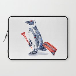 Penguin with a Suitcase and a Vuvuzela Laptop Sleeve