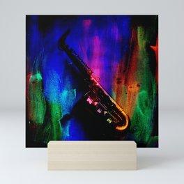 Midnight Sax Mini Art Print