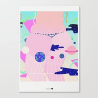 internet Canvas Prints featuring internet by Alba Blázquez
