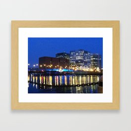 Boston Tealights Framed Art Print