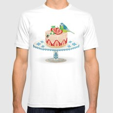 life is short, take a dessert  Mens Fitted Tee White MEDIUM