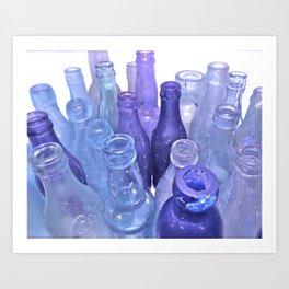 Lavender Bottles Art Print