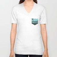 bikini V-neck T-shirts featuring Bikini Bottom  by Sammy Cee