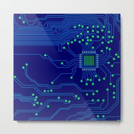 Electronics board Metal Print
