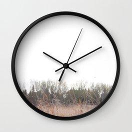 Prarie grass Nose Hill Wall Clock