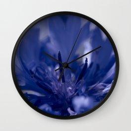 Fine Art Pale Blue Flower Photography, Nature Wall Clock