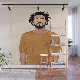 J Cole Portrait Wall Mural