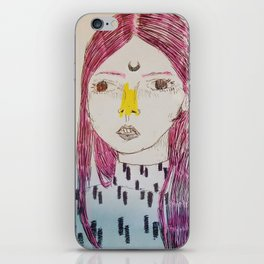 Pink Hair iPhone Skin