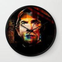 dracula Wall Clocks featuring Dracula by BendolaMonster