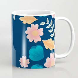 Peach Floral Embroidering Design  Coffee Mug