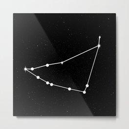 CAPRICORN (BLACK & WHITE) Metal Print