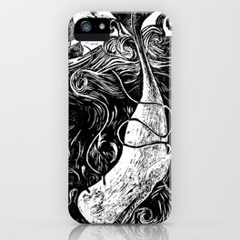 Moby Dick Wood Cut iPhone Case