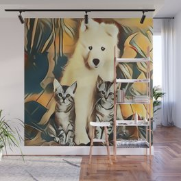 Puppy and Kittens Wall Mural