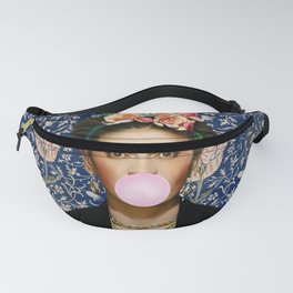 Frida Kahlo with Medway Blowing Pink Bubblegum Fanny Pack
