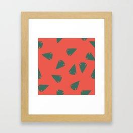 ARROWHEADS-RED Framed Art Print