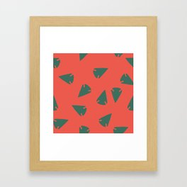 ARROWHEADS-RED Framed Art Print