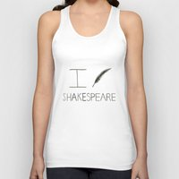 shakespeare Tank Tops featuring Shakespeare by Normandie Illustration