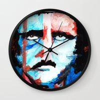 poe Wall Clocks featuring Poe by J. John Whitmore