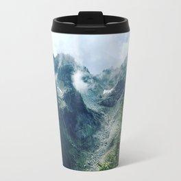 Mountain through the clouds Travel Mug