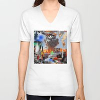 lebron V-neck T-shirts featuring Show Me The Money by artbynatejames
