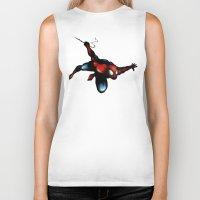 spider man Biker Tanks featuring Spider Man by Luis Pinto