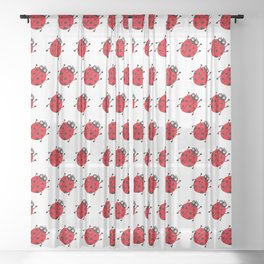Ladybug Pattern_H Sheer Curtain