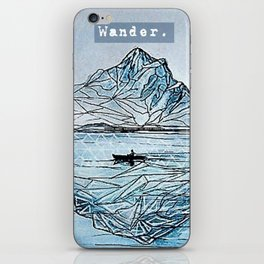 Destination through the Rockies iPhone Skin