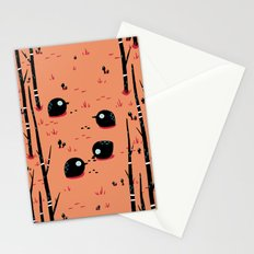 Black Birds in the Forest Stationery Cards