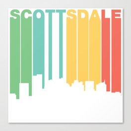 Retro 1970's Style Scottsdale Arizona Skyline Canvas Print