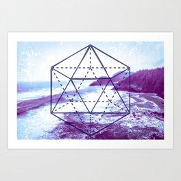 The Elements Geometric Nature Element of Water Art Print