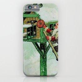 """Feeding Winter Birds"" Elves by Jenny Nystrom iPhone Case"