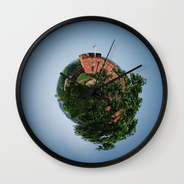 Tiny Planet 4 - Sky Castles Wall Clock