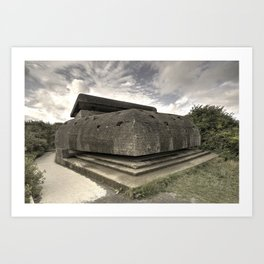 Normandy Bunker  Art Print
