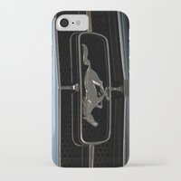 mustang iPhone & iPod Cases featuring Mustang  by Cozmic Photos