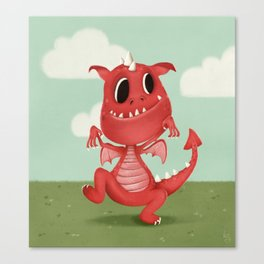 The Scariest Dragon Canvas Print