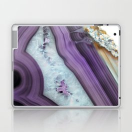 Purple Agate Slice Laptop & iPad Skin