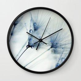 dandelion blue II Wall Clock